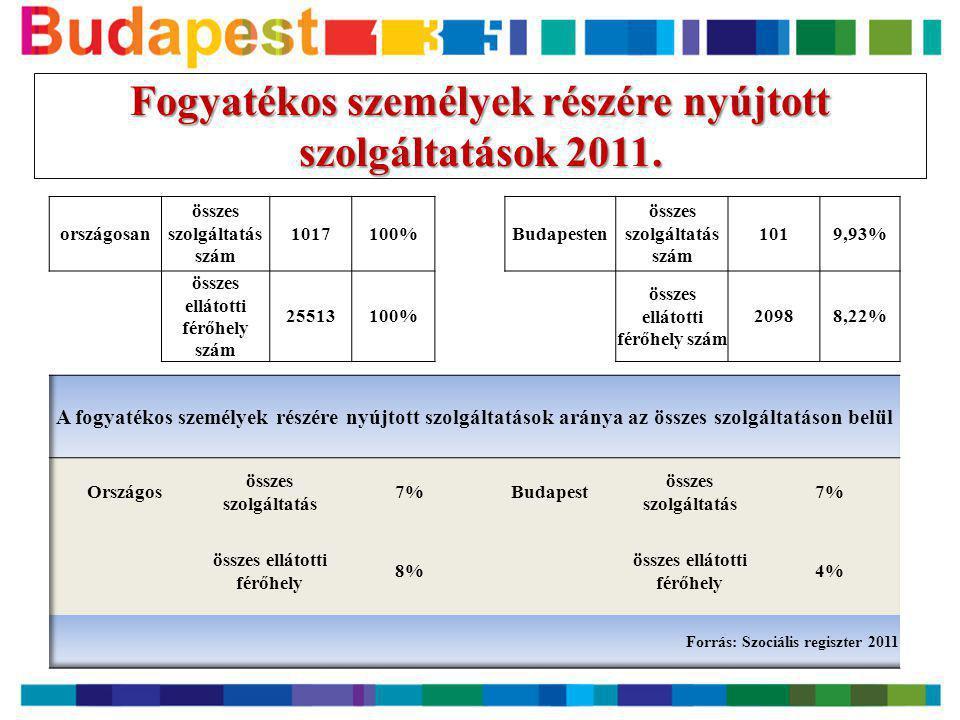 Fogyatékos személyek részére nyújtott szolgáltatások 2011.