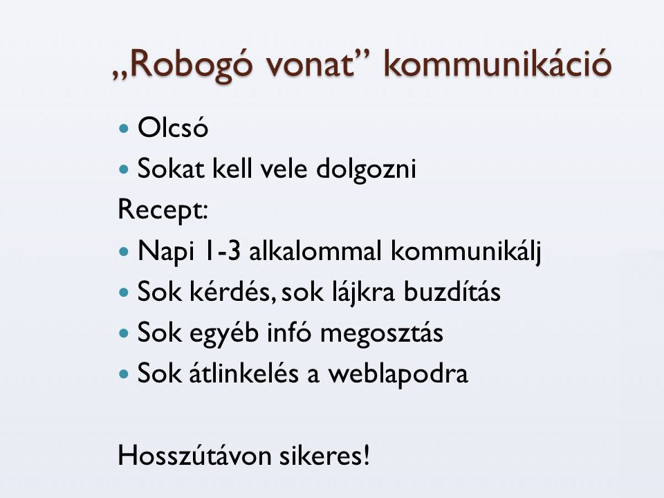 """""""Robogó vonat kommunikáció"""