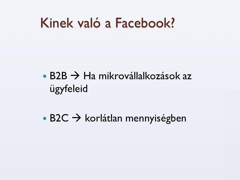 Kinek való a Facebook B2B  Ha mikrovállalkozások az ügyfeleid
