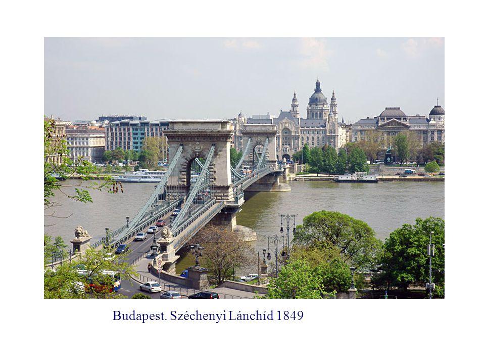 Budapest. Széchenyi Lánchíd 1849