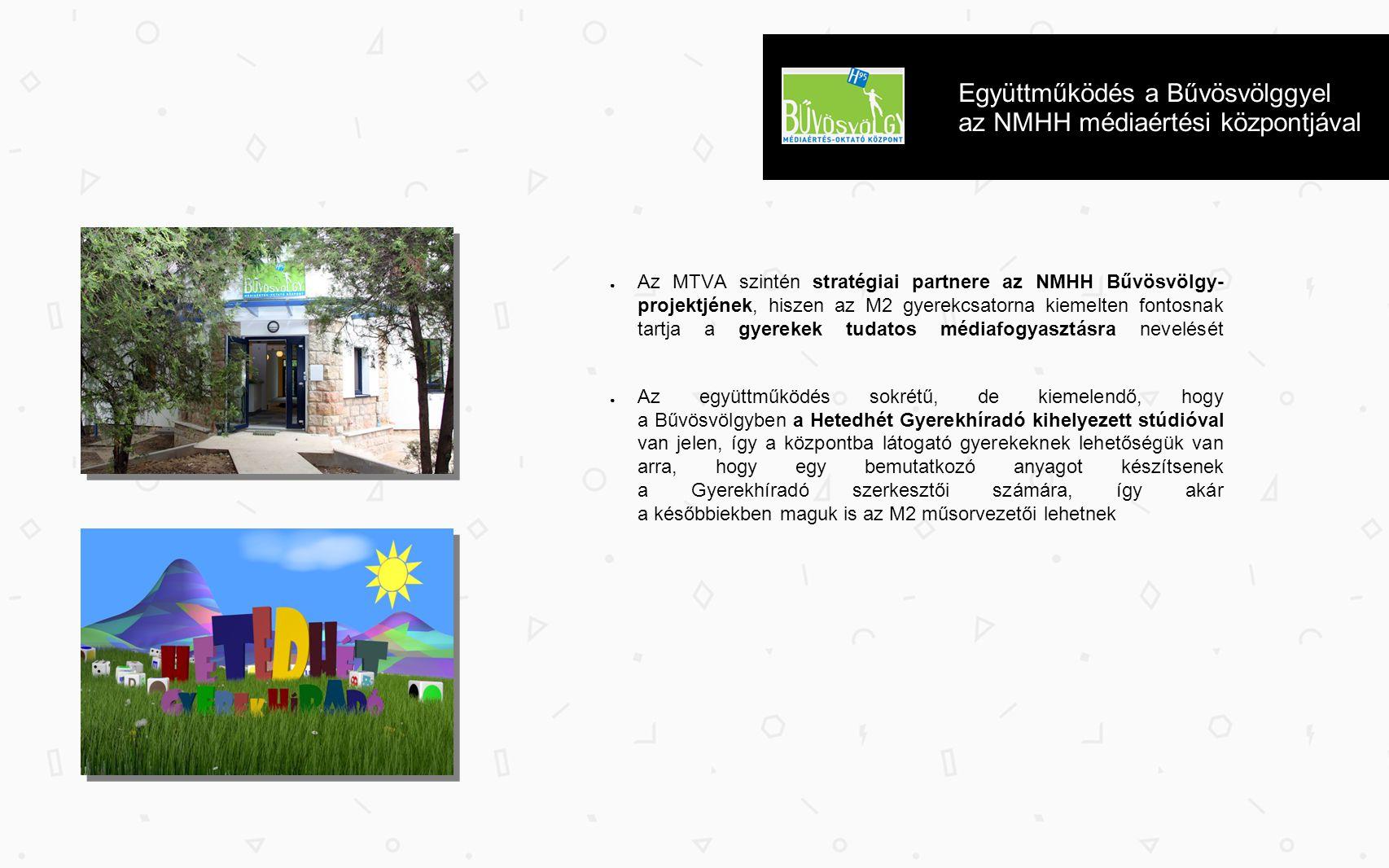 Együttműködés a Bűvösvölggyel az NMHH médiaértési központjával