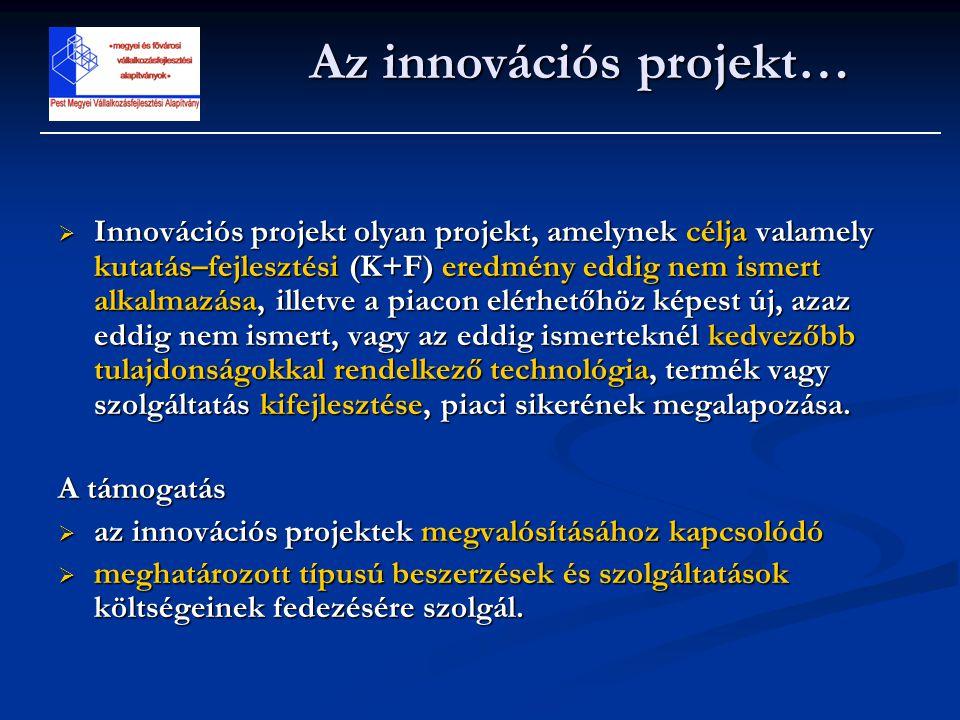 Az innovációs projekt…