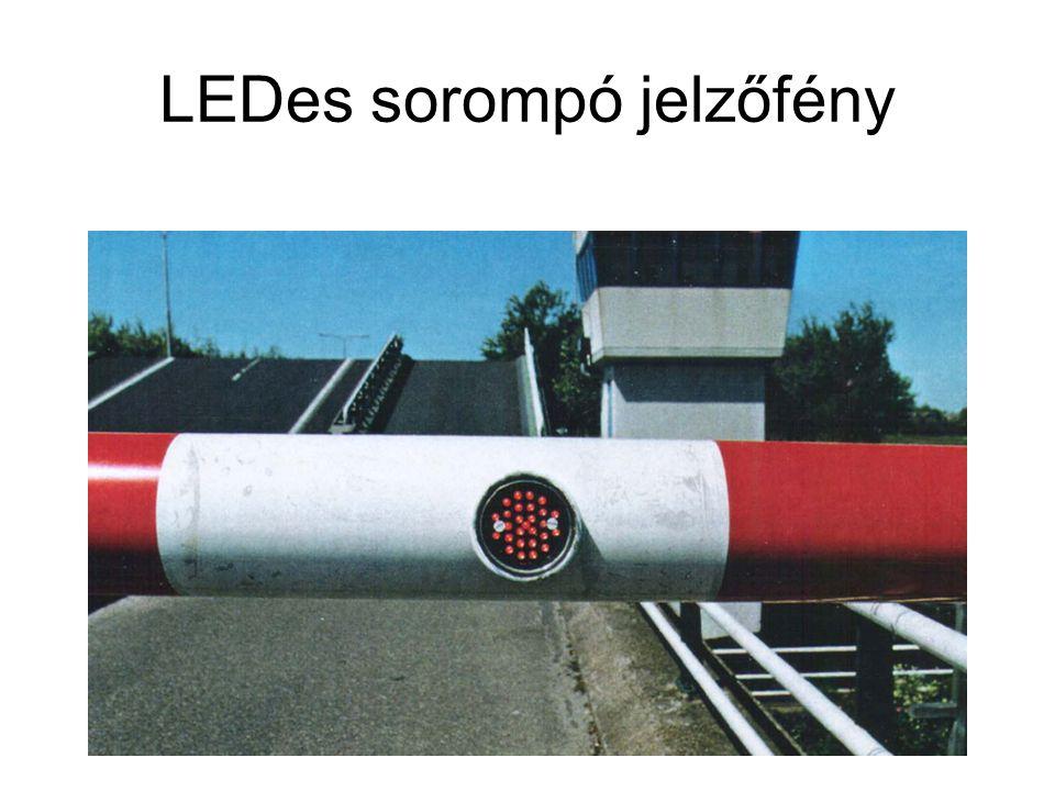 LEDes sorompó jelzőfény
