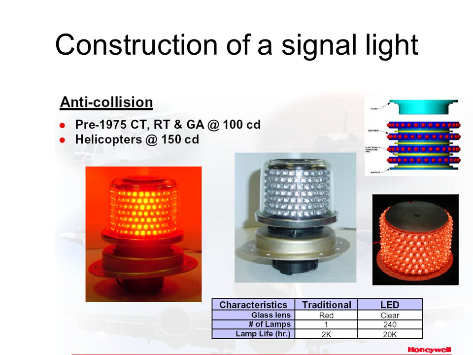Construction of a signal light