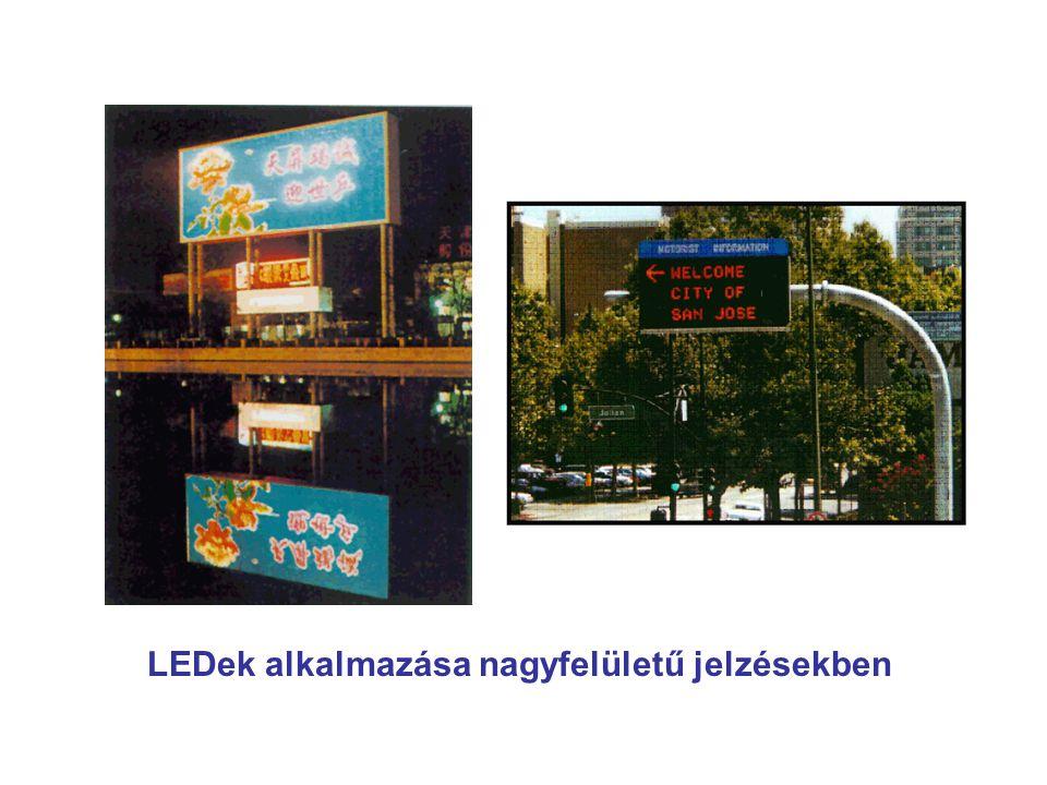 LEDek alkalmazása nagyfelületű jelzésekben