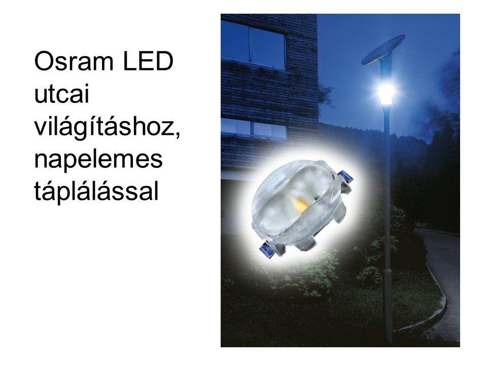 Osram LED utcai világításhoz, napelemes táplálással