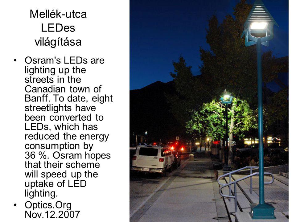 Mellék-utca LEDes világítása