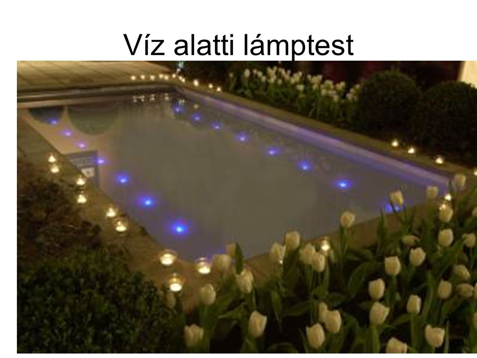 Víz alatti lámptest