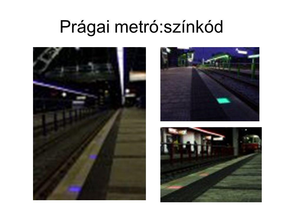 Prágai metró:színkód