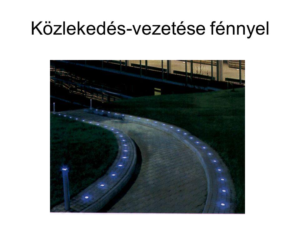 Közlekedés-vezetése fénnyel