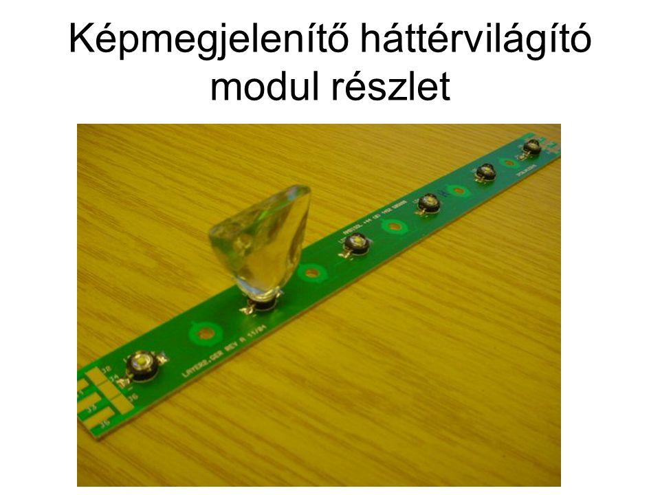 Képmegjelenítő háttérvilágító modul részlet