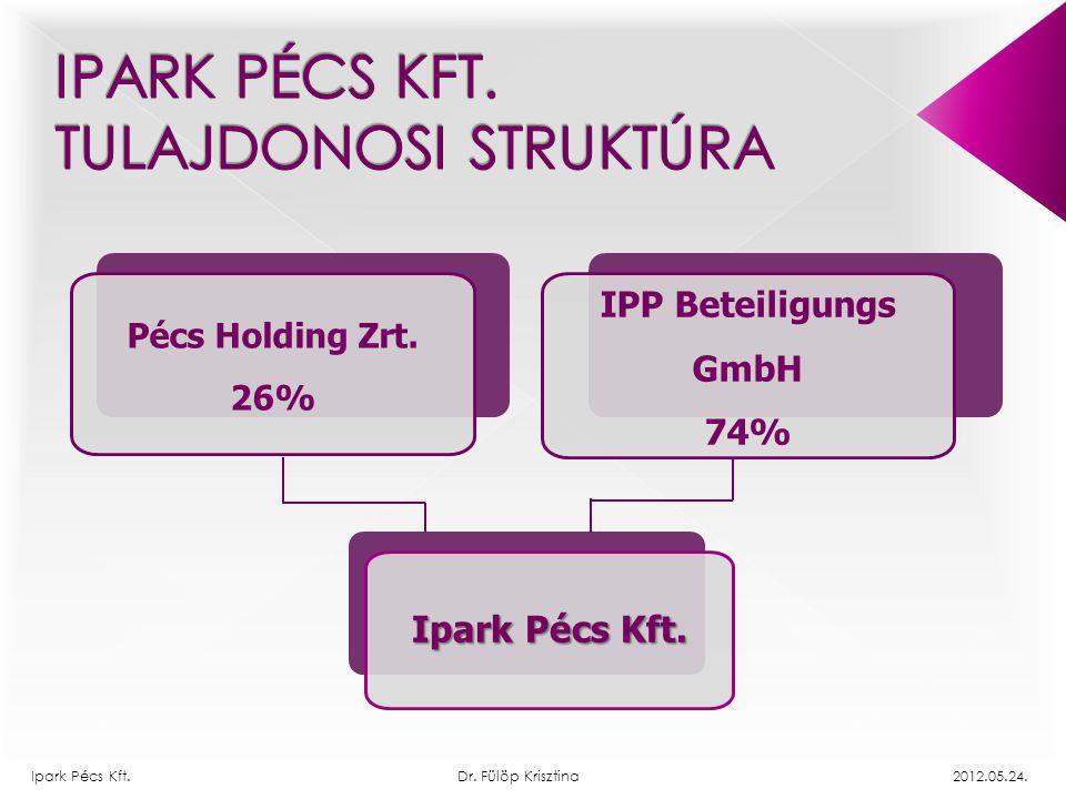 Ipark Pécs Kft. Tulajdonosi struktúra