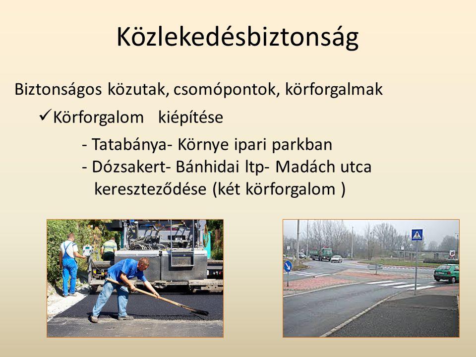 Közlekedésbiztonság Biztonságos közutak, csomópontok, körforgalmak