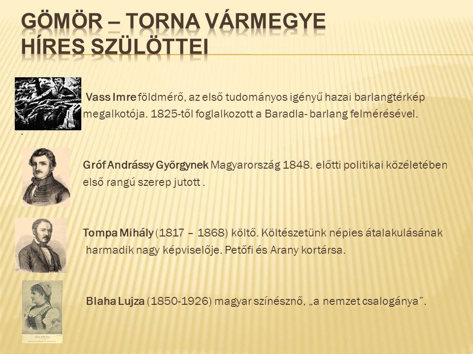 Gömör – Torna vármegye híres szülöttei