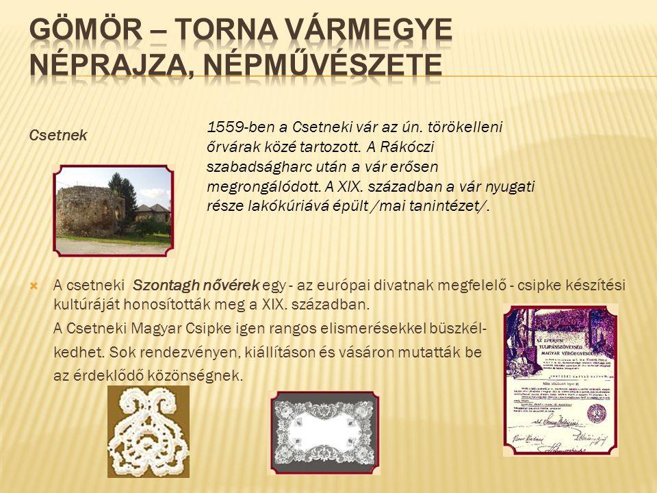Gömör – Torna vármegye Néprajza, népművészete