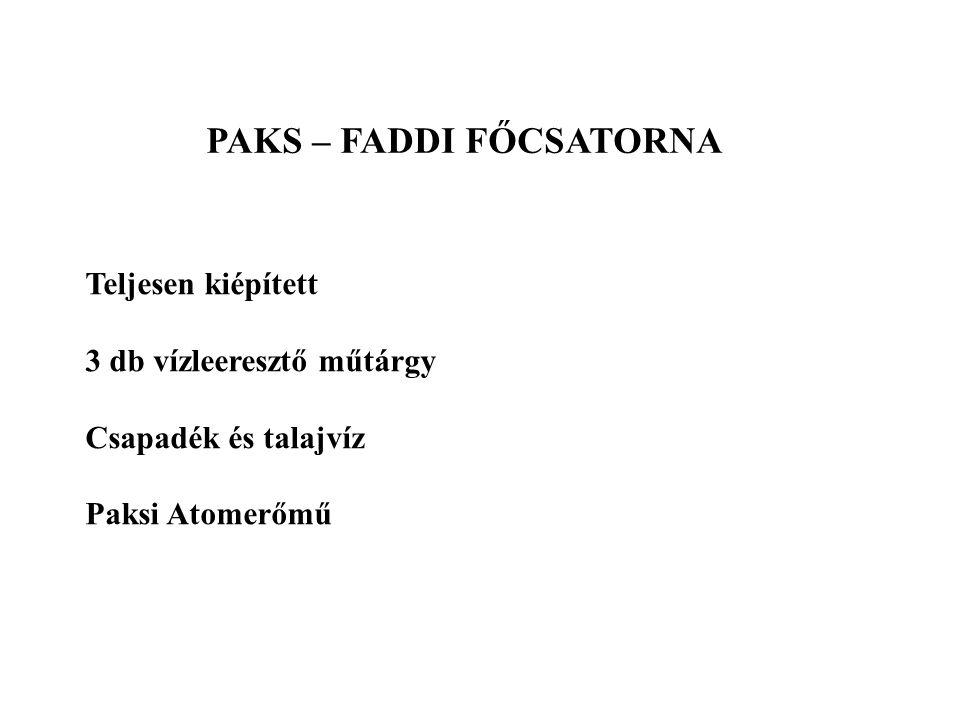 PAKS – FADDI FŐCSATORNA