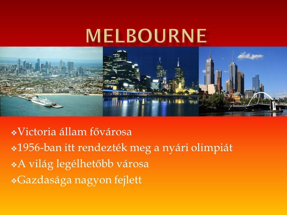 melbourne Victoria állam fővárosa