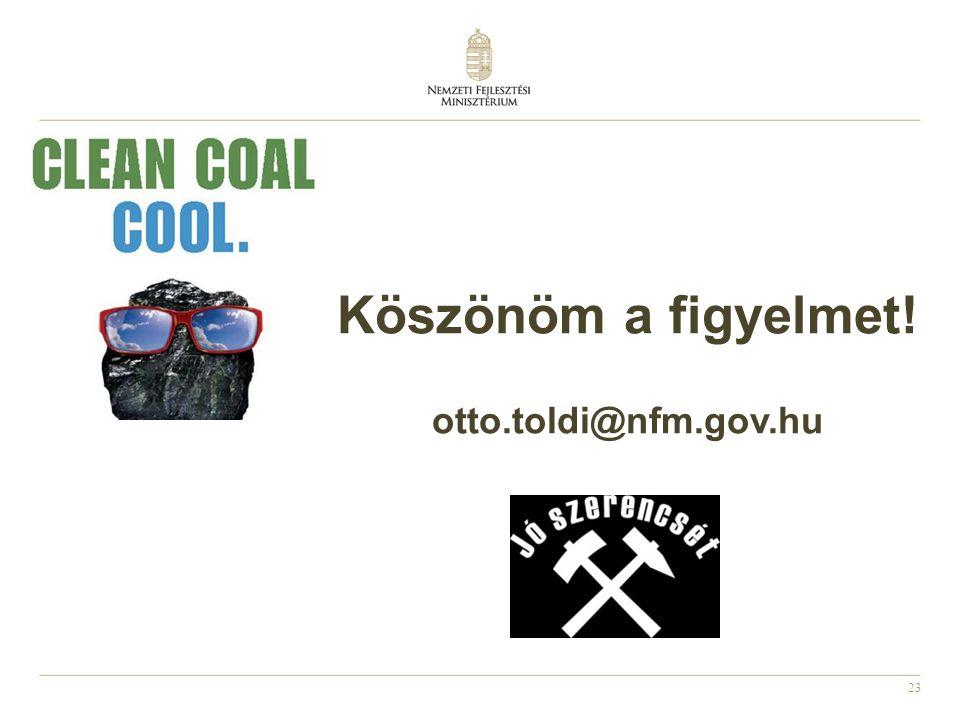 Köszönöm a figyelmet! otto.toldi@nfm.gov.hu