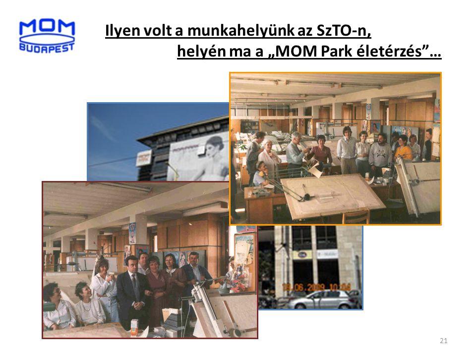 """Ilyen volt a munkahelyünk az SzTO-n, helyén ma a """"MOM Park életérzés …"""