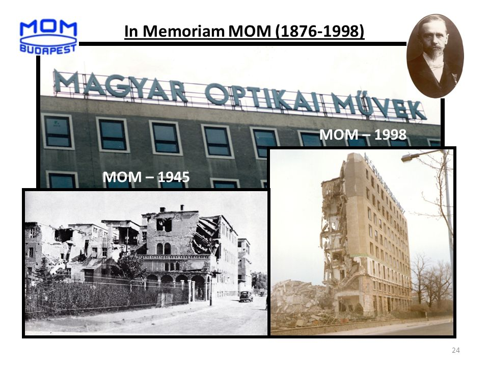 In Memoriam MOM (1876-1998) MOM – 1945 MOM – 1998