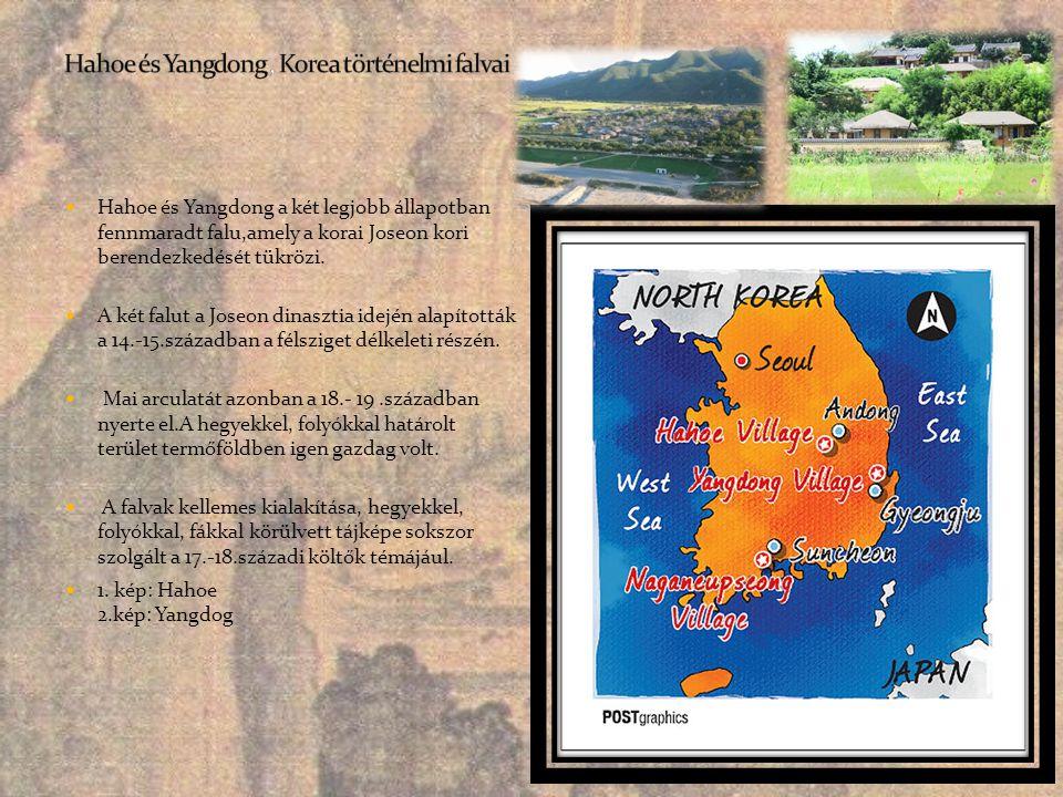 Hahoe és Yangdong , Korea történelmi falvai