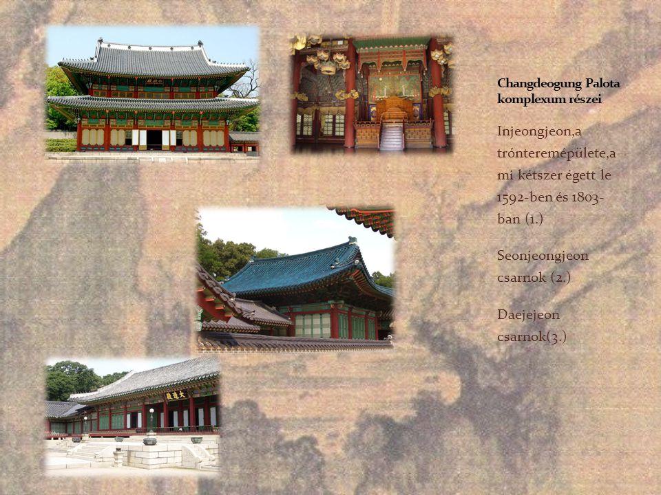 Changdeogung Palota komplexum részei