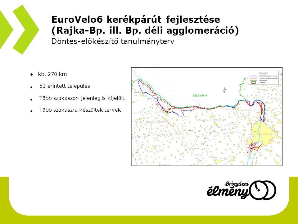 EuroVelo6 kerékpárút fejlesztése (Rajka-Bp. ill. Bp. déli agglomeráció)