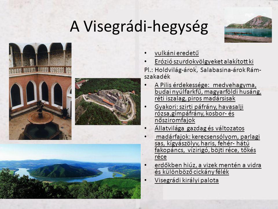 A Visegrádi-hegység vulkáni eredetű