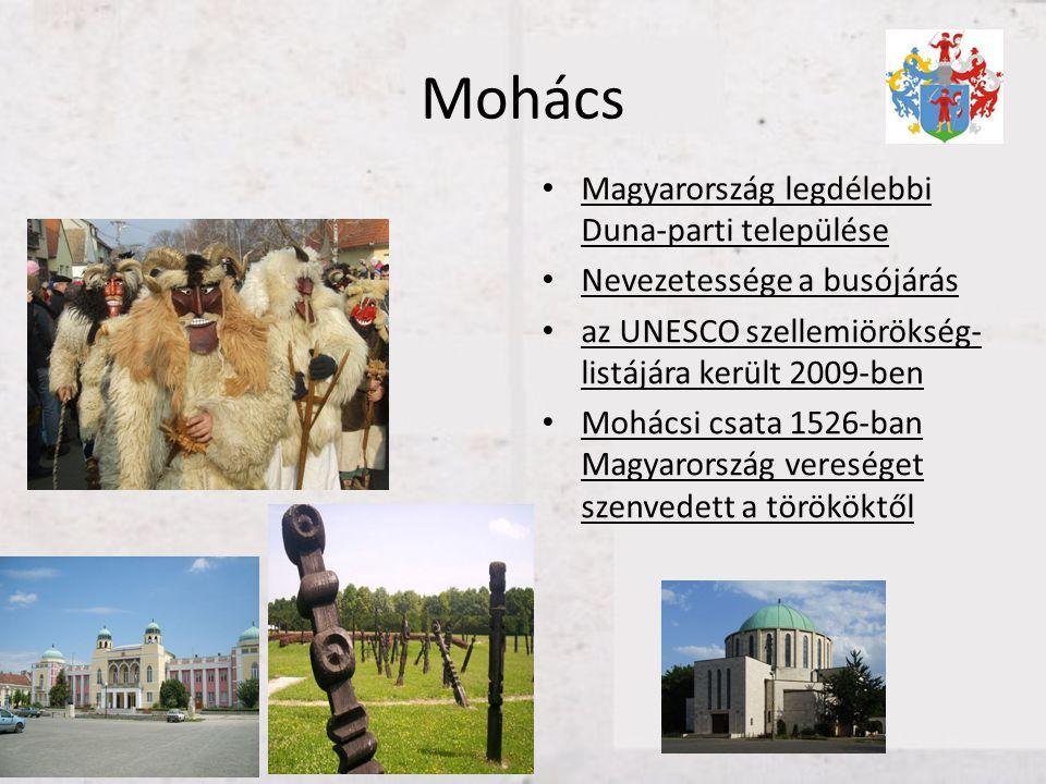 Mohács Magyarország legdélebbi Duna-parti települése