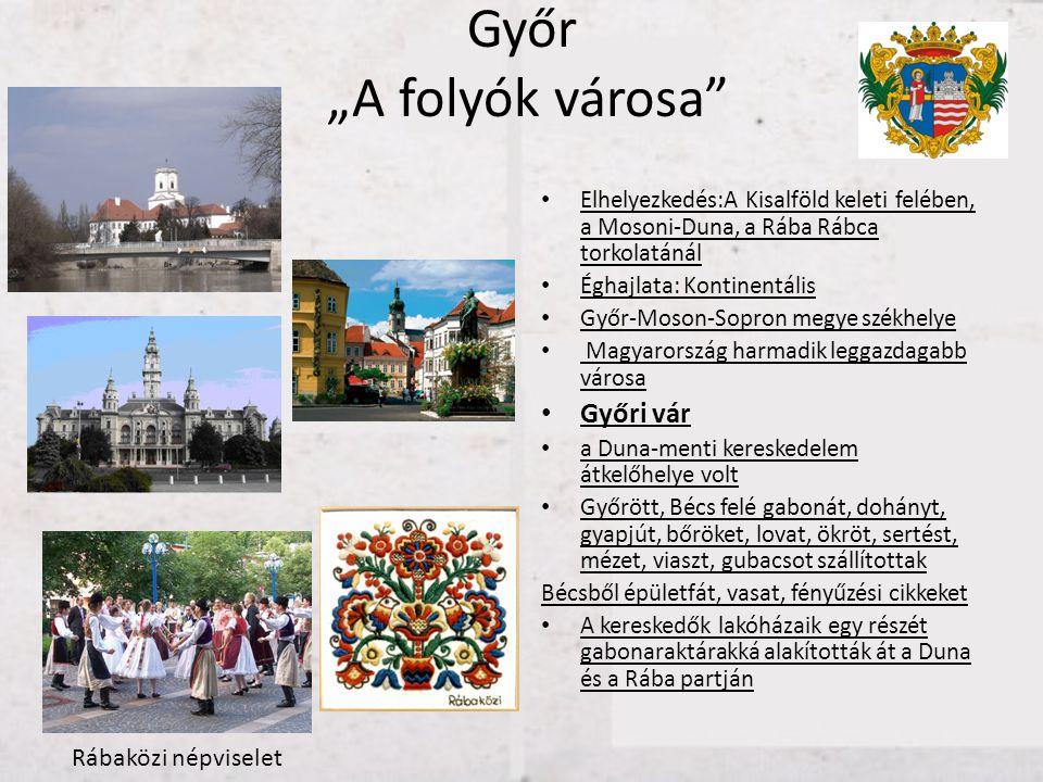 """Győr """"A folyók városa Győri vár Rábaközi népviselet"""