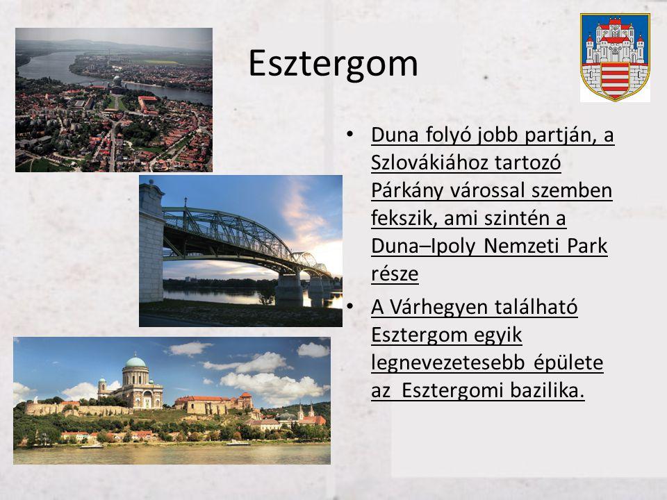 Esztergom Duna folyó jobb partján, a Szlovákiához tartozó Párkány várossal szemben fekszik, ami szintén a Duna–Ipoly Nemzeti Park része.