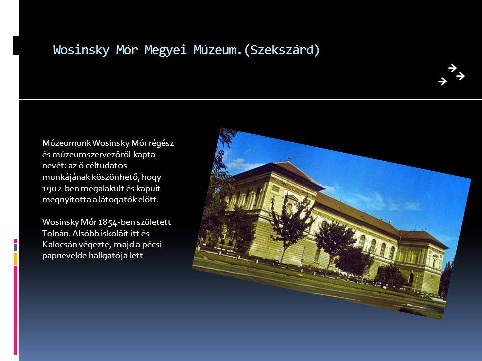 Wosinsky Mór Megyei Múzeum.(Szekszárd)