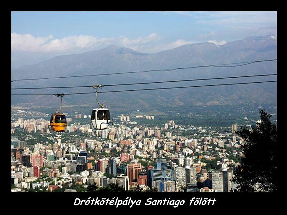 Drótkötélpálya Santiago fölött