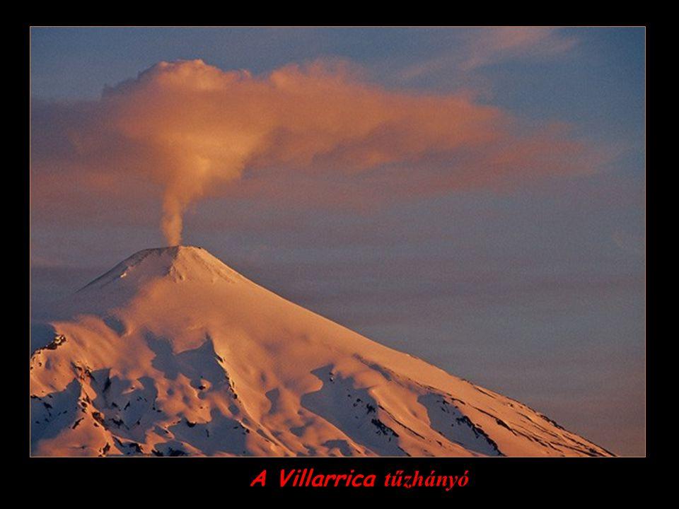 A Villarrica tűzhányó