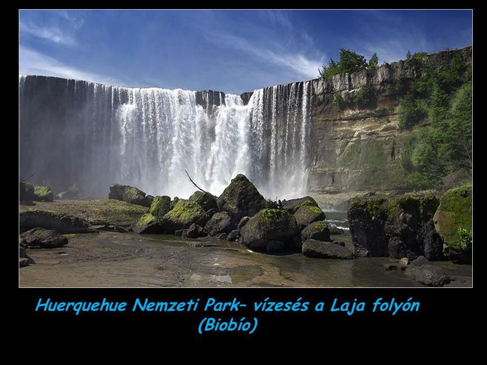 Huerquehue Nemzeti Park– vízesés a Laja folyón (Biobío)