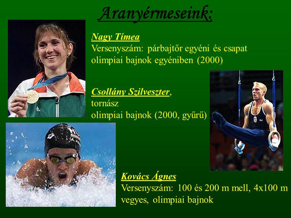 Aranyérmeseink: Nagy Tímea Versenyszám: párbajtőr egyéni és csapat
