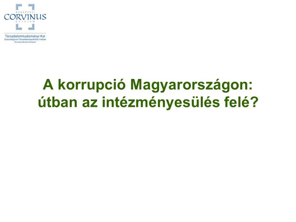 A korrupció Magyarországon: útban az intézményesülés felé