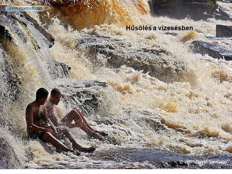 Hűsölés a vízesésben