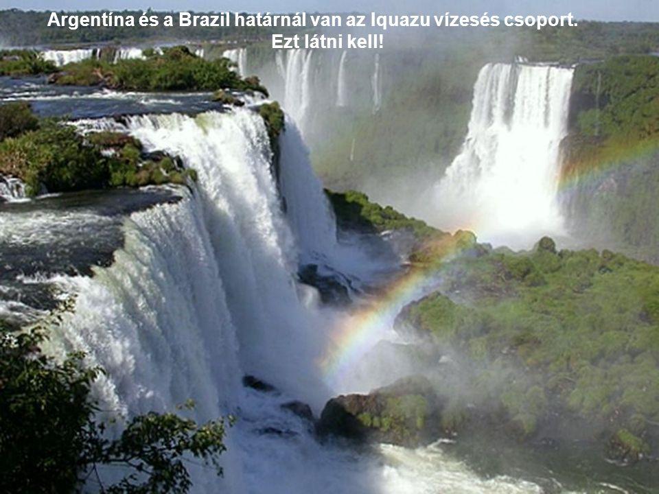 Argentína és a Brazil határnál van az Iquazu vízesés csoport.