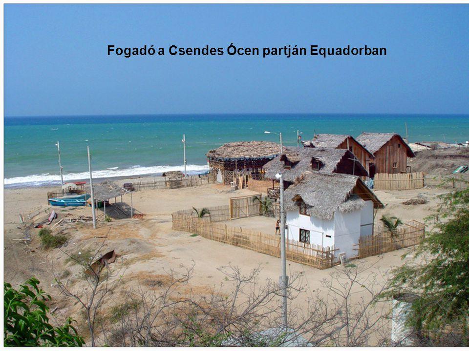 Fogadó a Csendes Ócen partján Equadorban
