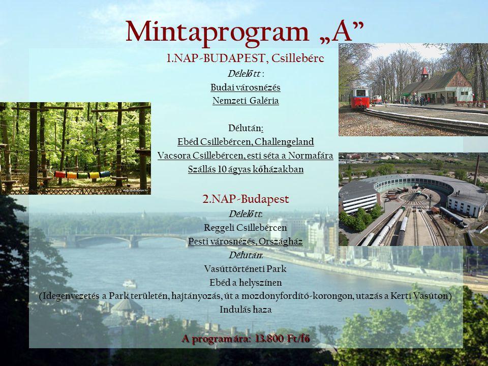 """Mintaprogram """"A 1.NAP-BUDAPEST, Csillebérc 2.NAP-Budapest"""