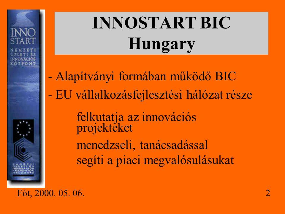 INNOSTART BIC Hungary - Alapítványi formában működő BIC