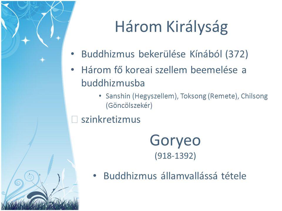 Három Királyság Goryeo Buddhizmus bekerülése Kínából (372)