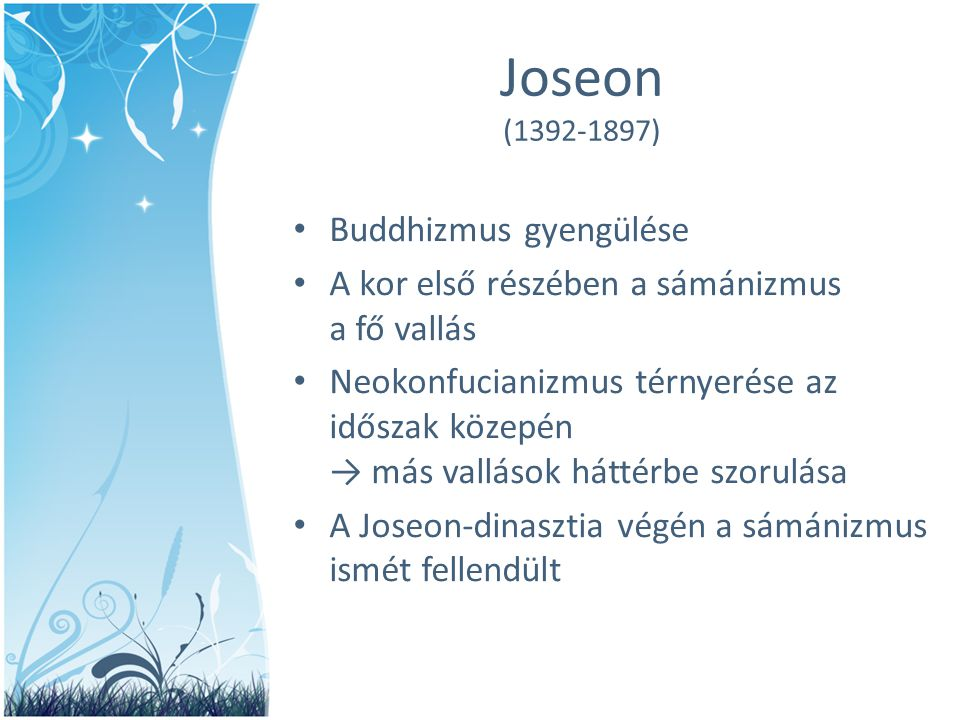 Joseon (1392-1897) Buddhizmus gyengülése