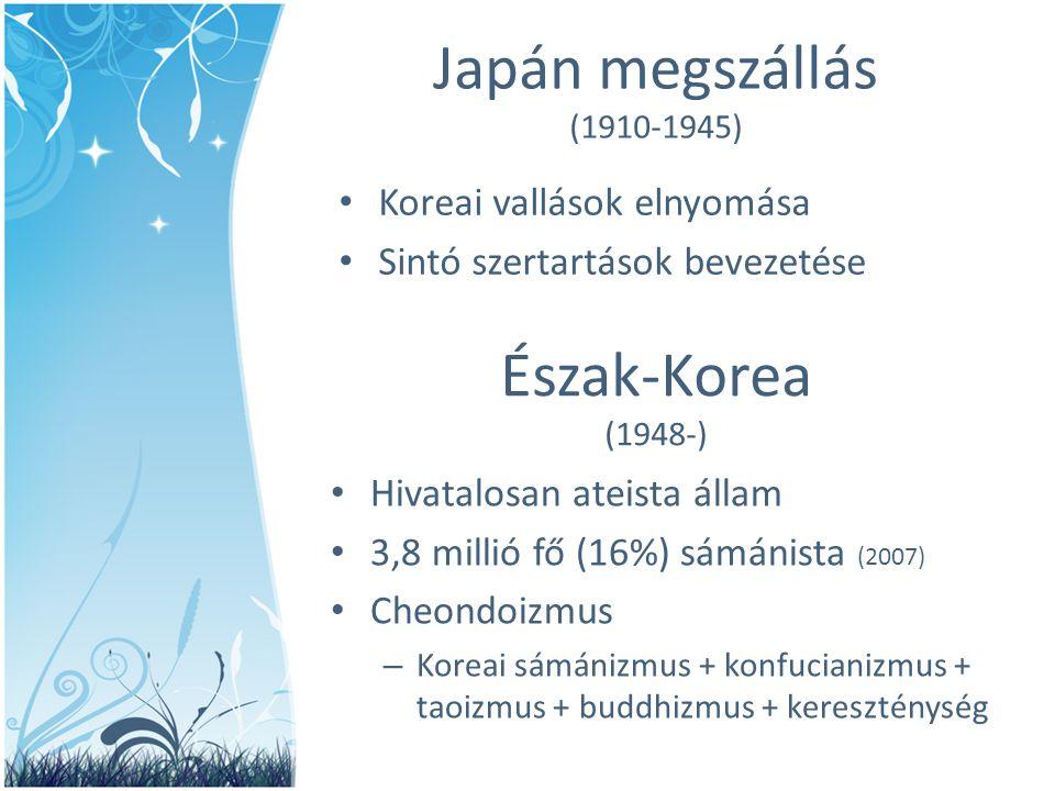 Japán megszállás Észak-Korea (1948-) Koreai vallások elnyomása