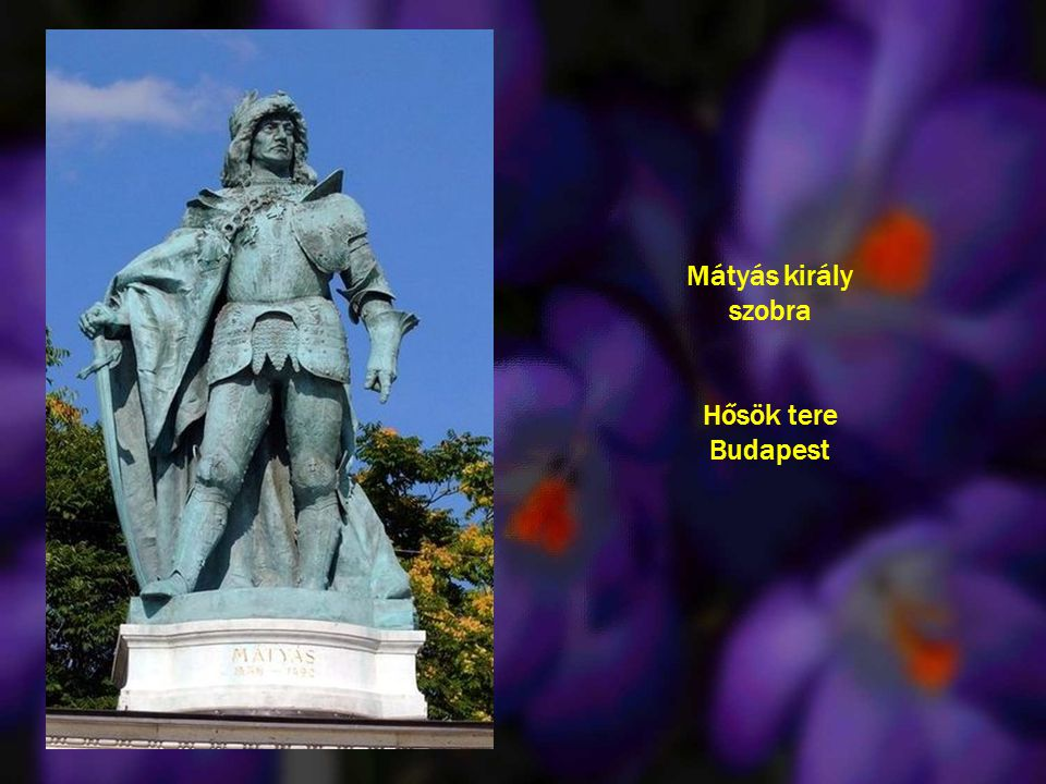 Mátyás király szobra Hősök tere Budapest
