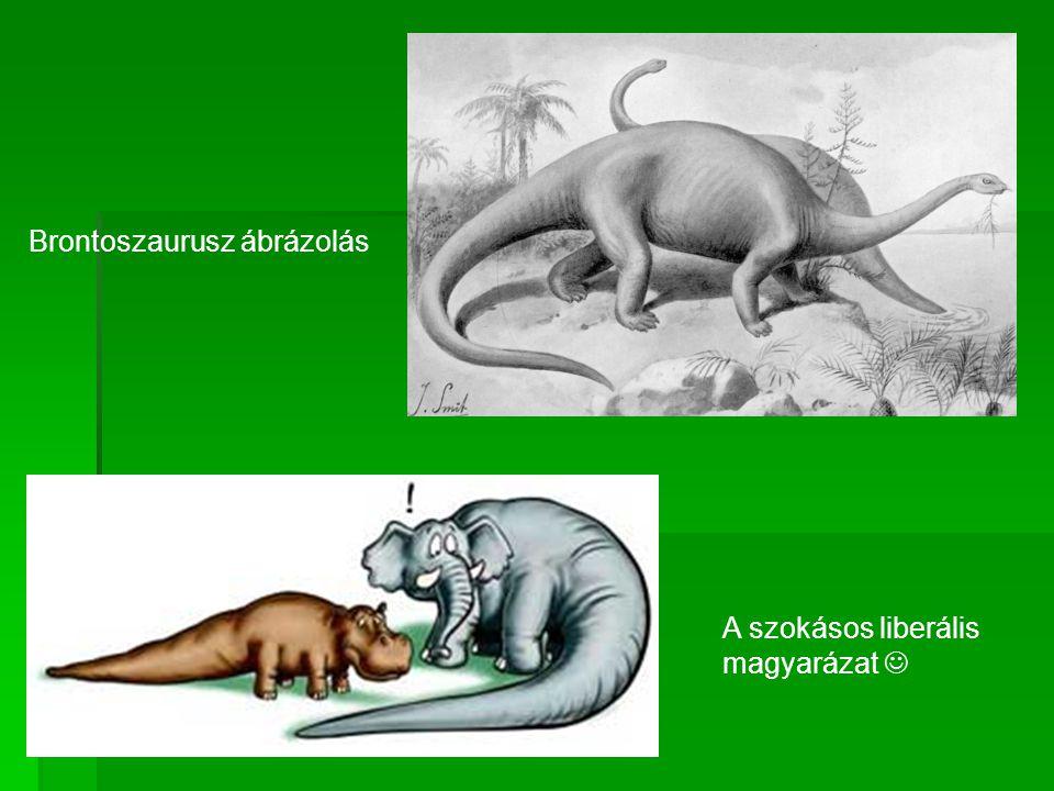 Brontoszaurusz ábrázolás