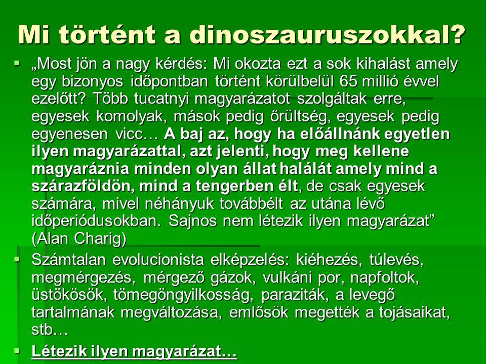 Mi történt a dinoszauruszokkal