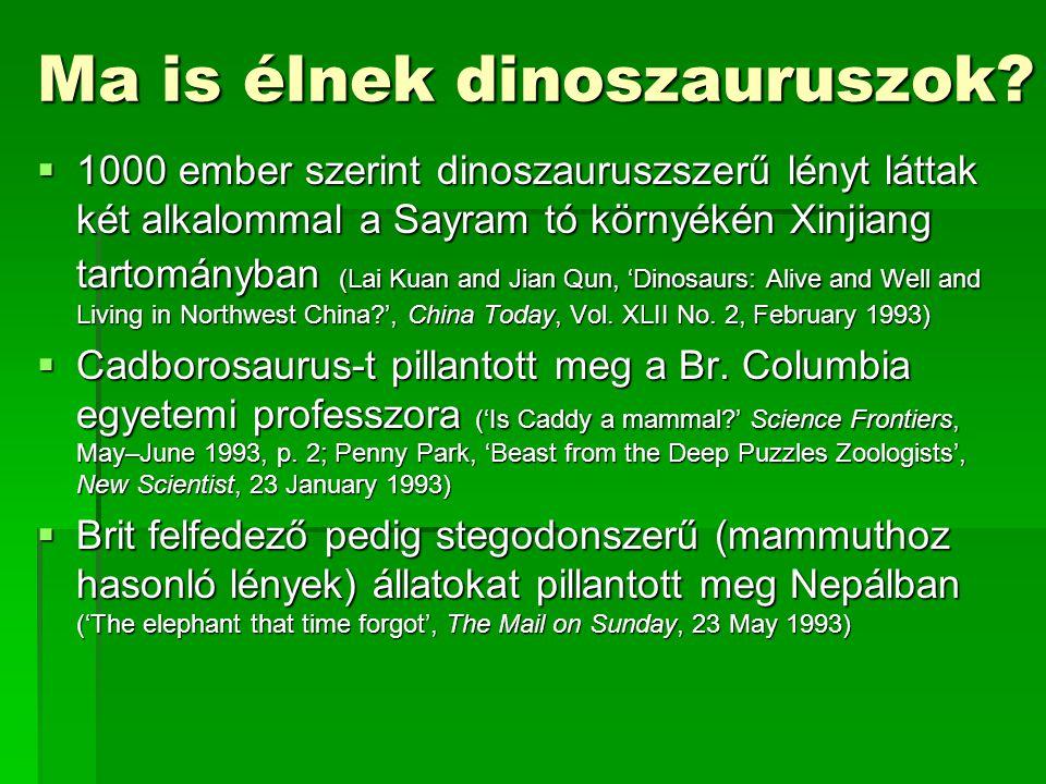 Ma is élnek dinoszauruszok