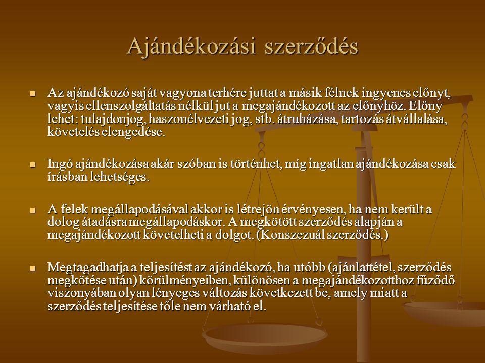 Ajándékozási szerződés